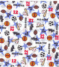Novelty Cotton Fabric 43\u0022-All Star