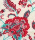 Anti-Pill Fleece Fabric 59\u0022-Joy Floral Red Teal