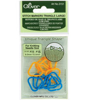 Clover Stitch Markers Triangle Large-2 Colors 12PK, , hi-res