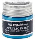 Prima Marketing Art Alchemy Acrylic Paint-Metallique Rich Turquoise