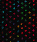 Novelty Cotton Fabric 43\u0022-Tie Dye Paws Black