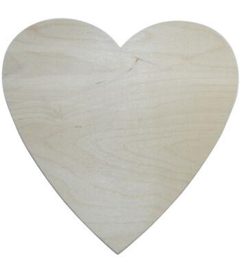 "Unfinished Wood Baltic Birch Plaque 1/Pkg-Heart 10""X10"""