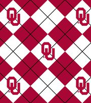 "University of Oklahoma Sooners Fleece Fabric 58""-Argyle, , hi-res"