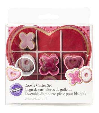 Metal Cookie Cutter Set 4/Pkg-XO Game