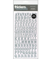 American Crafts Glitter Chipboard Stickers-Rockabye, , hi-res