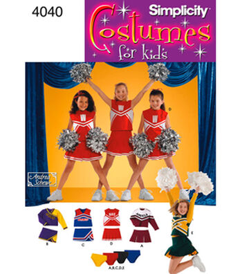 Simplicity Pattern 4040-Child & Girl Cheerleader Costumes