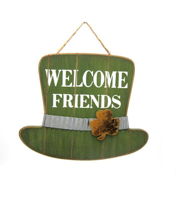 St. Patrick's Day Hat Wall Decor-Welcome Friends
