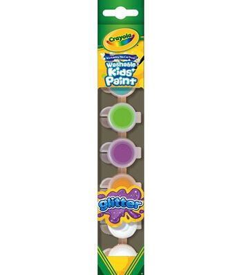 Crayola® 6ct Washable Kids™ Paint w/Glitter Special Effects
