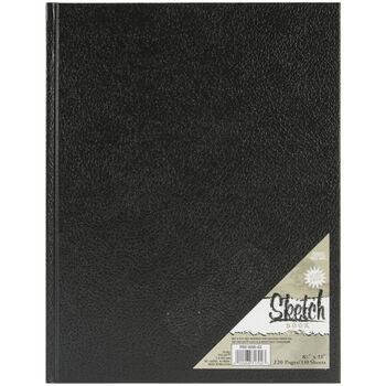 "Pro Art Hard Bound Sketch Book Black 8.5""x11"""