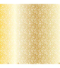American Crafts Printed Lattice/Gold Foil Specialty Cardstock