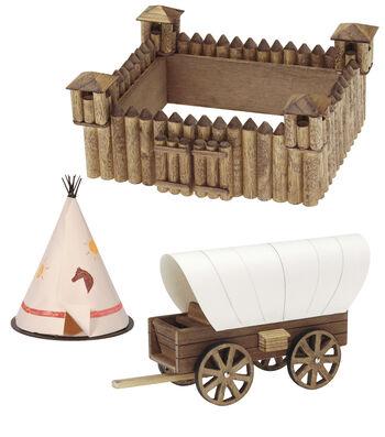 Wood Kit-Fort/Wagon/Teepee