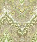 Waverly Print Fabric 54\u0022-Paisley Verse/Mineral