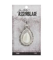 Tim Holtz® Assemblage 1.38''x2.13'' Silver Pendant-Opal Dropulent, , hi-res