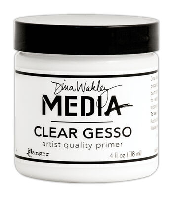 Ranger Dina Wakley Media 4 fl.oz Mediums Clear Gesso Jar