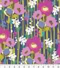 Anti-Pill Fleece Fabric 58\u0022-Blue Watercolor Floral
