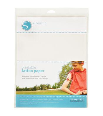 "Silhouette Temporary Tattoo Paper 8.5""X11"" 2/Pkg"