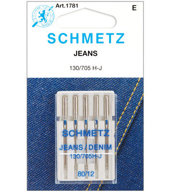 Schmetz Denim/Jeans Machine Needles 5/Pk-Size 12/80