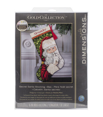 Dimensions Gold Secret Santa Stocking Counted Cross Stitch Kit