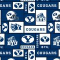 Brigham Young University Cougars Fleece Fabric 58\u0027\u0027-Block