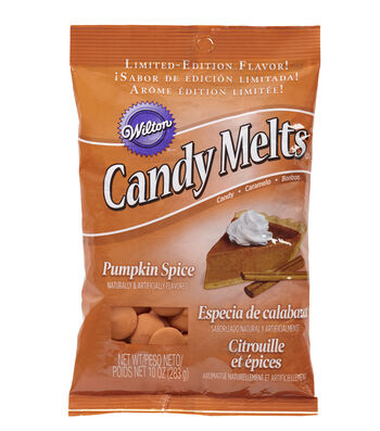 Wilton 10oz Pumpkin Spice Candy Melts Candy