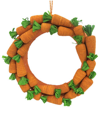 Easter 16'' Carrot Wreath