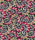 Quilter\u0027s Showcase™ Fabric 43\u0027\u0027-Raspberry & Green Floral Vines