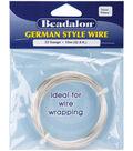 Beadalon German Style Round Wire 22 Gauge 32.8 Feet/Pkg-Silver