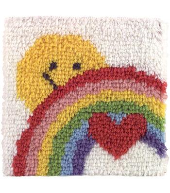 "Wonderart Latch Hook Kit 12""X12""-Sunshine Rainbow"