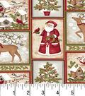 Maker\u0027S Holiday Cotton Fabric-Santa And Snowmen In Blocks