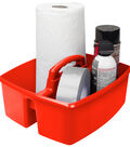 Storex Large 2-Compartment Caddy-Red