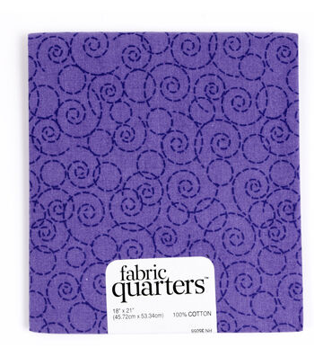 "Fabric Quarters Cotton Fabric 18""-Assorted Purple"