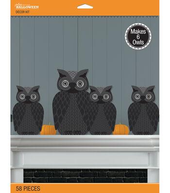 Jolee's Boutique® Halloween 58 pk Spooky Owl 3D Decor Kit