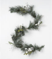 "Blooming Holiday 66"" Bell Garland-Pine Berry Pinecone, , hi-res"