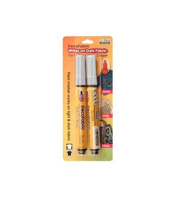 Marvy Uchida® 2 Pack DecoFabric Markers-White