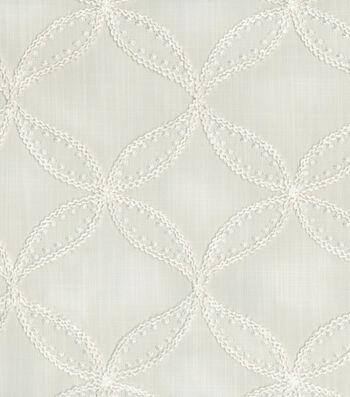 "Williamsburg Upholstery Fabric 52""-Tanjib Emb/Snow"