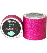 "Heidi Swapp Marquee Love Washi Tape .875""-Pink Glitter, 10', , hi-res"