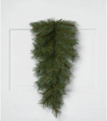 Blooming Holiday Christmas 26'' PVC Long Needle Pine Teardrop-Green