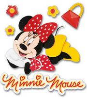 Disney 3-D Stickers-Minnie, , hi-res