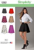Simplicity Pattern 1282H5 6-8-10-12--Misses Skirt / Pants