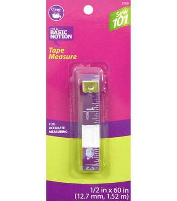 "Dritz 0.5"" x 60"" Sewing 101 Tape Measure"