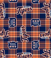 """Detroit Tigers Fleece Fabric 58""""-Plaid, , hi-res"""