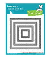 Lawn Fawn Lawn Cuts Custom Craft Die -Small Stitched Square Stackables, , hi-res