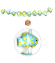 "Blue Moon Beads 7"" Strand, Ceramic Blue-Green Fish, , hi-res"