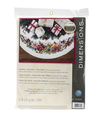 Dimensions Holiday Harmony Tree Skirt Counted Cross Stitch Kit