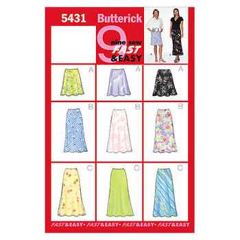 Butterick Misses Skirt-B5431