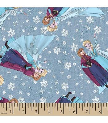 "Disney® Frozen Denim Fabric 43""-Sisterly Love"