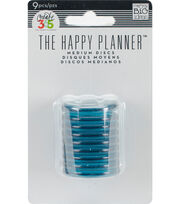 "Create 365 Planner Discs-Clear Teal 1.2"", , hi-res"