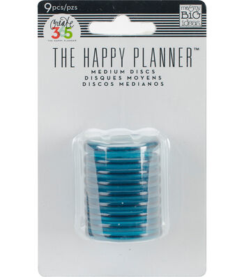 Create 365 Planner Discs-Clear Teal 1.2""