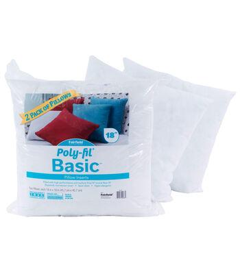 """Poly-Fil Basic 2PK 18""""x18"""" Pillow Inserts"""