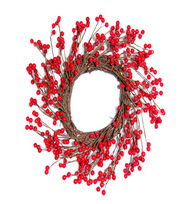 Blooming Holiday Christmas 17'' Small Berry Wreath-Red, , hi-res